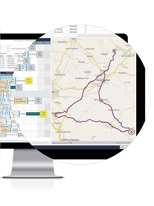 route optimisation technology, real time scheduling software, FLS VISITOUR